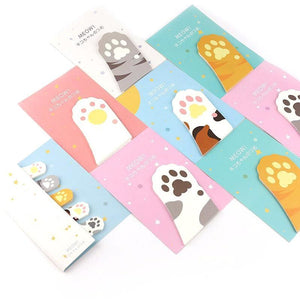 Cat Paw Sticky Notes - All Written Down
