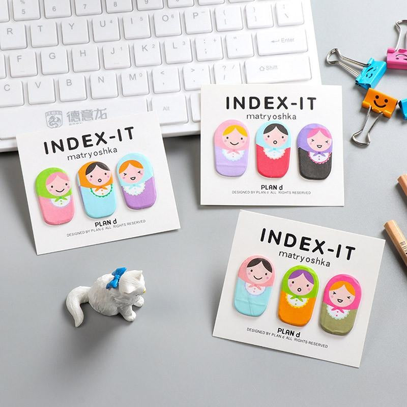 Matryoshka Dolls Index Sticky Notes - All Written Down