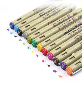 Micro Line Graphic Pens | 12 Colors Set - All Written Down