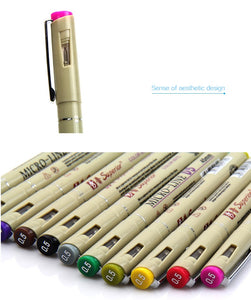 Micro Line Graphic Pens - 12 Colors Set - All Written Down