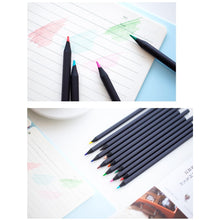 Black Wooden Color Pencil Set | 12 Piece - All Written Down