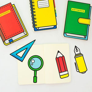 2D Hardcover Notebook + Bookmark - All Written Down