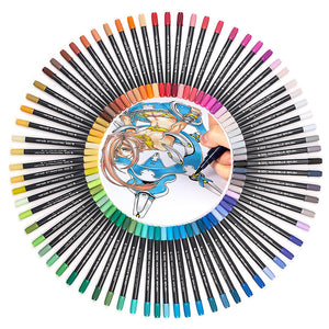 Dual Tip Art Marker Set - 12|24|36|48|80 Colors - All Written Down