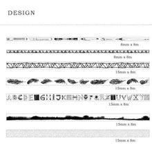Black & White Washi Tape | Set of 11 - All Written Down