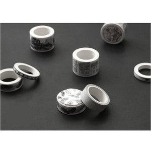 Black & White Washi Tape Set | 11 pieces - All Written Down