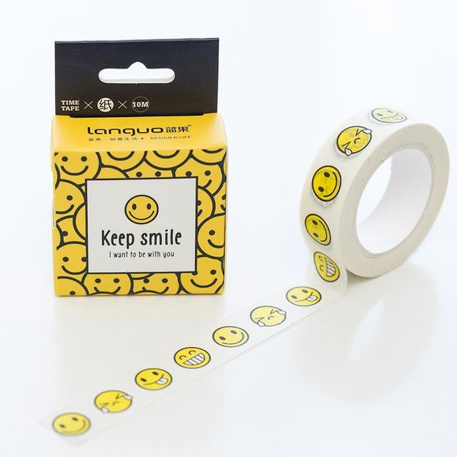 Smiling Face Washi Tape - All Written Down