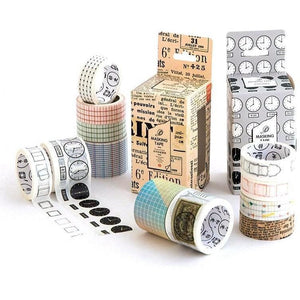 Time Washi Tape Set | 4 Pieces | Pack - All Written Down