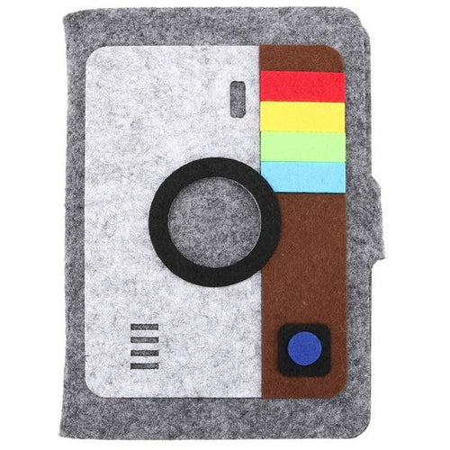 A6 Camera Felt Cover Journal - All Written Down