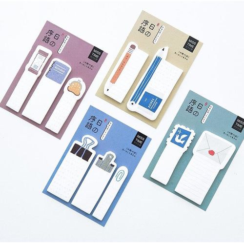 Old- School Index sticky notes | 4 Pieces - All Written Down