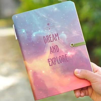 DREAM AND EXPLORE Hardcover Notebook - All Written Down