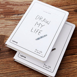 DRAW MY LIFE Hardcover Sketchbook - All Written Down
