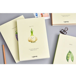 Happy Vegetables A5 Blank Notebook - All Written Down