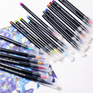 Watercolor Soft Brush Pens - Set of 20 - All Written Down