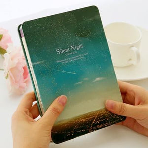 Silent Night Colored Pages Iron Cover Notebook - All Written Down