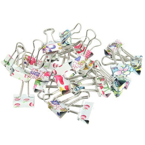 Mini Colorful Metal Binder Clip Set | 24 Pieces - All Written Down