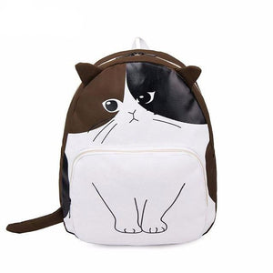 Cute Cat Canvas Backpack - All Written Down