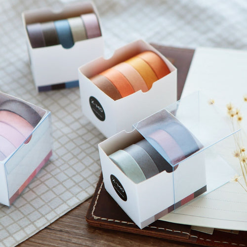 Pure Colors Series Washi Tape | Set of 5 - All Written Down