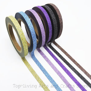 Slim Glitter Washi Tape - Set of 6 - All Written Down