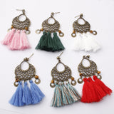 Bohemian Three Tassel Dangle Earrings