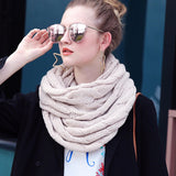 Knitted Cable Infinity Soft Cashmere Scarf