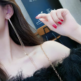 Multi-Layer Long Chain Drop Earrings