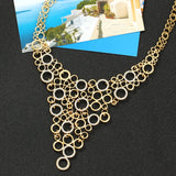 Connected Circle Statement Necklace