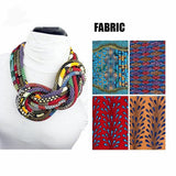 Bohemian Fabric Coil Necklaces