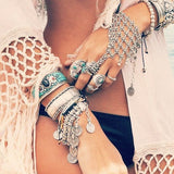 Bohemian Turkish Gypsy Hand Bracelet