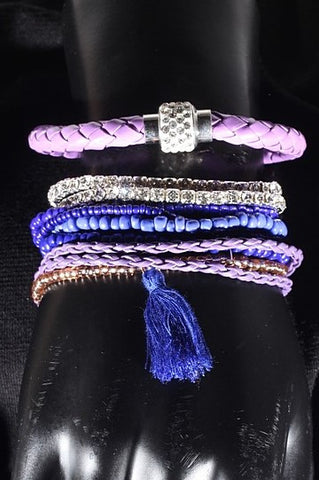 9 piece Purple Bracelet Set