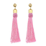 20 options Bohemian Hand-woven Ball Long Tassel Earrings