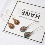 Bohemian Hollow Flower Resin Beads Earrings