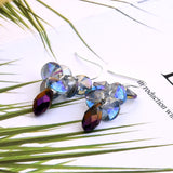 Multi-Layer Colorful Crystal Water Drops Earrings