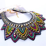 Bohemian Multi-Material Choker Necklace