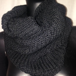 Soft Acrylic Knit (Black) Scarf