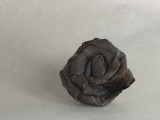 Unisex Rose Lapel Pin~ Grey- with burnt edges