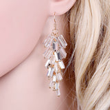Luxury Crystals Grape Shape Drop Earrings