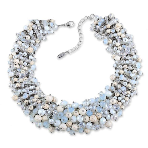 Full Crystals Statement Necklace for Women