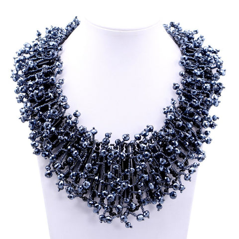 Handmade Beads Bib Fashion Choker Necklace