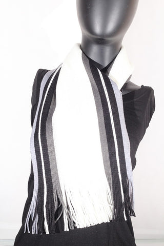 Cashmere blend stripped (cream, olive, black and grey) Scarf