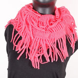 Soft Knitting Wool Fringe Infinity (Fruit Punch) Scarf