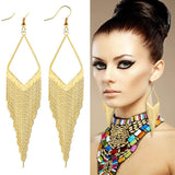 Copper Gold Color Long Tassel Earrings