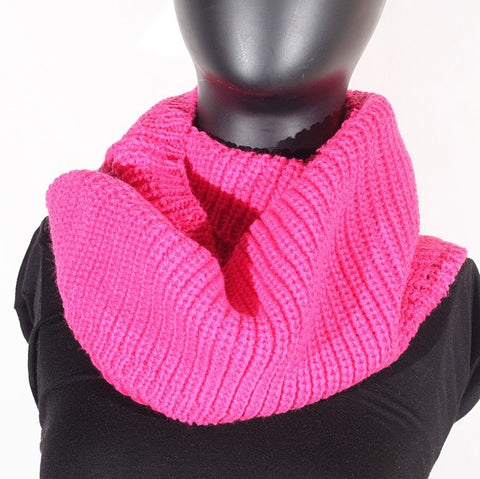Soft Acrylic Knit (Hot Pink) Scarf