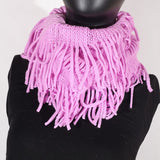 Soft Knitting Wool Fringe Infinity (Light Purple) Scarf