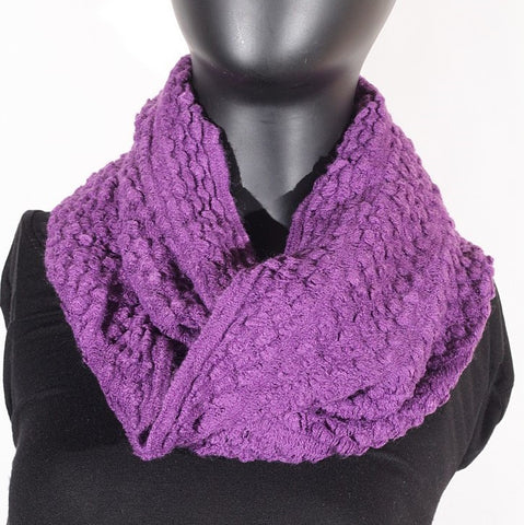 Soft Artificial Wool Infinity (Purple) Scarf