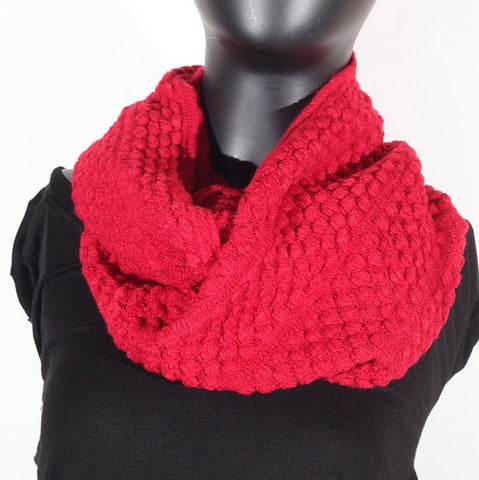 Soft Artificial Wool Infinity (Cranberry) Scarf