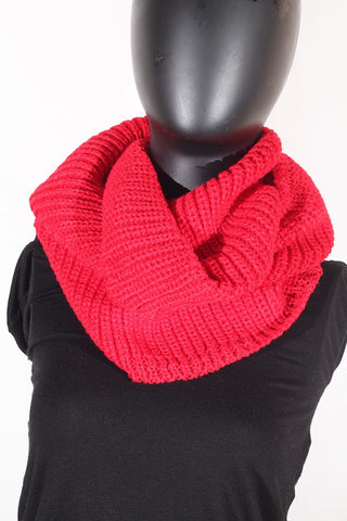 Soft Acrylic Knit (Red) Scarf