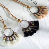 Bohemian Tassel Pendant Necklace OR  Bohemian Tassel Choker Necklace Earrings