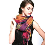 Cashmere Plaid Thick Winter Scarves