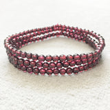 3 Wrap Mini Grand Garnet Stacking Bracelets