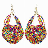 Knitting Resin Beaded Bohemia Earrings